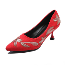 Thin heel high-heeled shoes women's new spring 2020 Korean style all-around pointed net red shallow mouth women's single shoes spring moda mujer 2018 womens high heeled shoes sexy korean version thin heel pointed professional shoes yasilaiya shallow