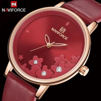 NAVIFORCE 5012 New Women Watches Fashion Stylish Waterproof Quartz Wristwatch with box