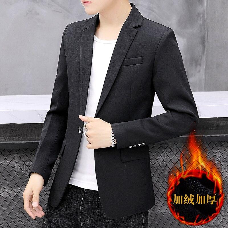Office Mens Black Blazer Knitted Casual Jacket Designs Blazer Slim Fit Wedding 2020 Buttons Ropa Hombre Tailored Blazer JJ60XX