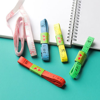 1.5m Body Measuring Ruler Sewing Tailor Tape Measure Mini Soft Flat Ruler Centimeter Meter Sewing Measuring Tape image