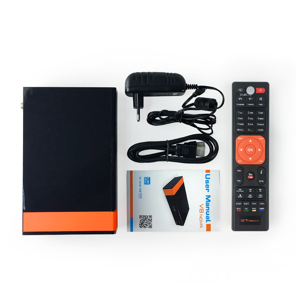 Gtmedia V8 nova HD 1080P Receptor Satellite Receiver 1 Years Cccam Cline for Built in Wifi Support IPTV Youtube in Satellite TV Receiver from Consumer Electronics