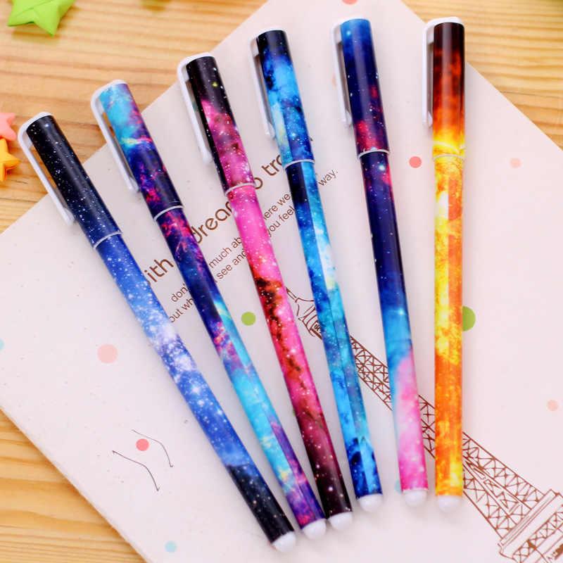 מכירה לוהטת יפה Unicorn ג 'ל עט שחור דיו גבוהה-איכות חמוד בית ספר משרד אספקת מתנת מכתבים Escolar