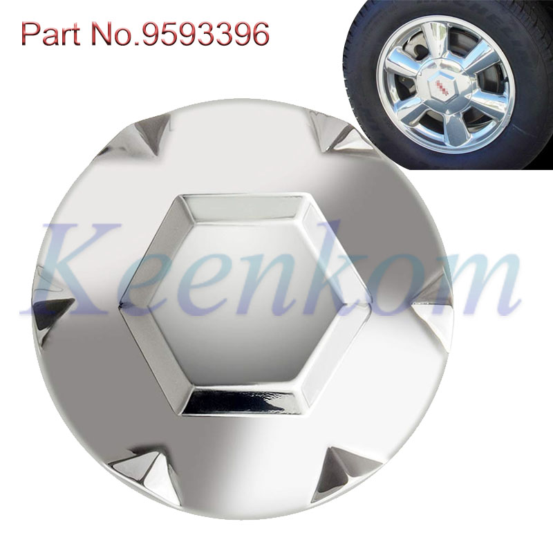 New 9593396 <font><b>Car</b></font> <font><b>Wheel</b></font> <font><b>Center</b></font> Hub Caps <font><b>Cover</b></font> For GMC Envoy XL XUV 2002 2003 2004 2005 2006 2007 Polished Alloy <font><b>Center</b></font> Cap image