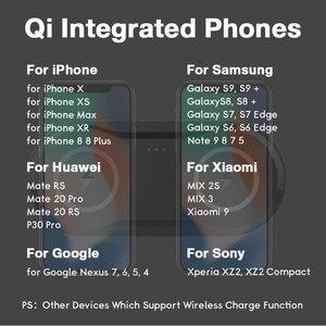 Image 5 - 10W כפול QI מטען אלחוטי Pad עבור IPhone 11 X XR XS מקסימום 8 בתוספת Samsung Galaxy S10 Xiao mi mi 9 מהיר אלחוטי טעינת Dock