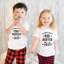 I Am Going To Be A Big Brother/sister 2021 Kids Boys Girls Anouncement Tshirts Brothers Siters Family Looking Shirts Drop Ship