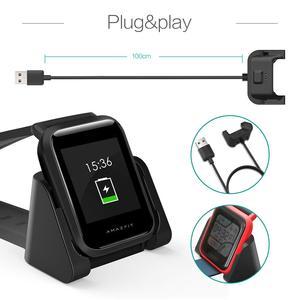 Image 4 - החלפת USB מגנטי מטען לxiaomi Huami Amazfit ביפ נוער A1608 דגם Smartwatch מטענים מהיר טעינת כבל עריסת