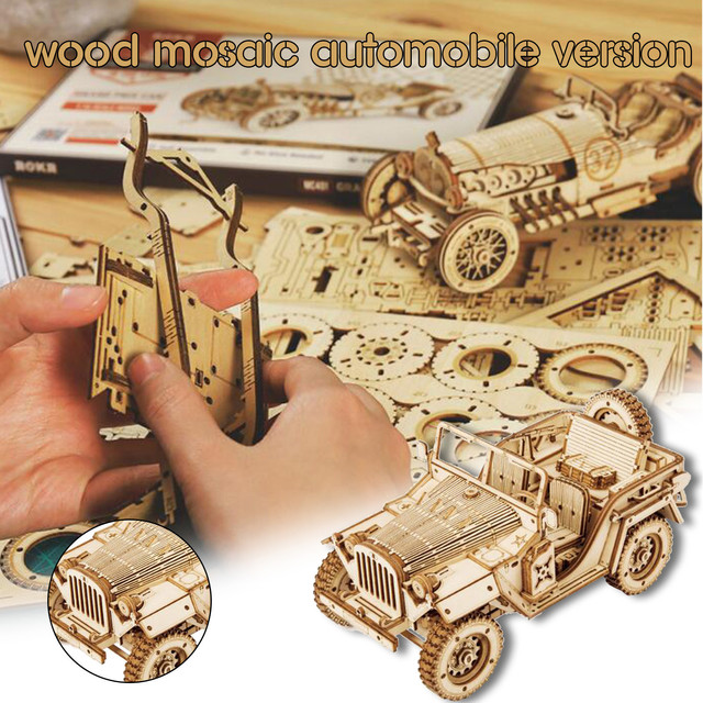 2020 DIY Manual Splicing Model Of 3D Children's Wooden Mechanical Transmission Puzzle Wooden Splicing Toys F Fast Ship 1