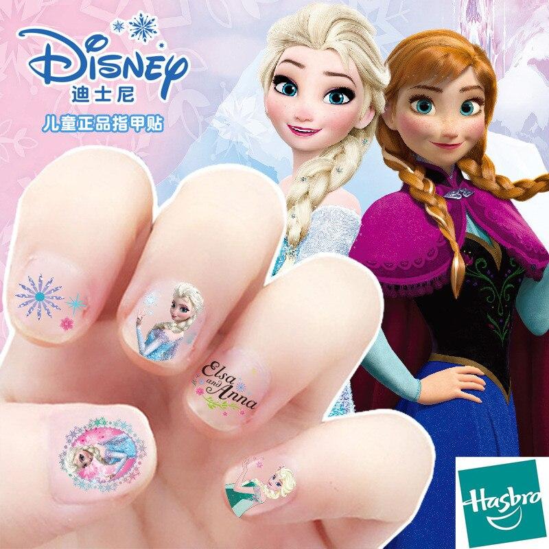 Hasbro Frozen Elsa And Anna Makeup Toys Nail Stickers Disney Snow White Princess Sophia Mickey Minnie Kids Earrings Sticker Toys