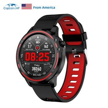 Captain HF Smart Watch Fashion Watch Waterproof IP68 Fitness Bracelet ECG+PPG Health monitoring  Smart reminder Watch