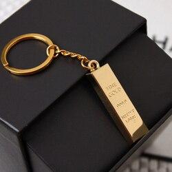 1 pièces en métal Faux lingot lingot or barre doré brique porte-clés créatif porte-clés cadeau livraison gratuite