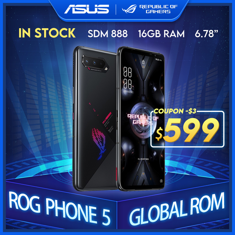 ASUS ROG Phone-5 Global 256GB 12gbb Nfc Adaptive Fast Charge/Side-mounted/Face recognition/Fingerprint recognition