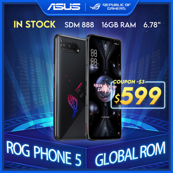 "Novo asus rog telefone 5 rom global snapdragon888 128/256gb android11 6000mah 6.78 ""display de carregamento rápido 65w rog5 gaming telefone 1"
