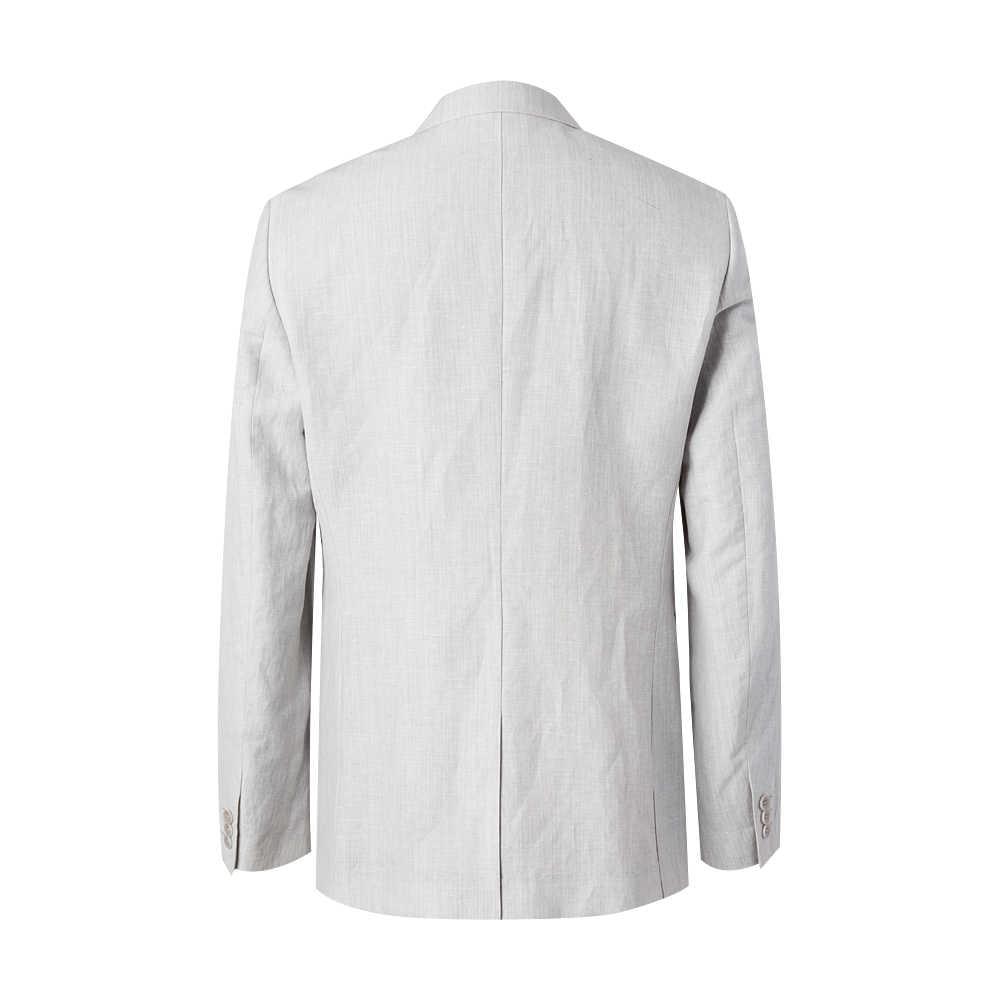 Me & City moda męska wełna lniana marynarka marka biznesowa marynarka fala projekt dorywczo mężczyzna inteligentny garnitur kurtka kostium Homme 536370