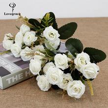 10 głów sztuczne jedwabne róże kwiatowy bukiet ślubny dla panny młodej sztuczne kwiaty wazon stół wystrój pokoju sztuczne kwiaty wesele tanie tanio Lovegrace SILK 11 8inch 1 3inch 10 Heads Artificial Silk Roses Floral Wedding Bouquet Bridal 0 03kg Fake Flowers Vase Table Room Decor Artificial Flowers