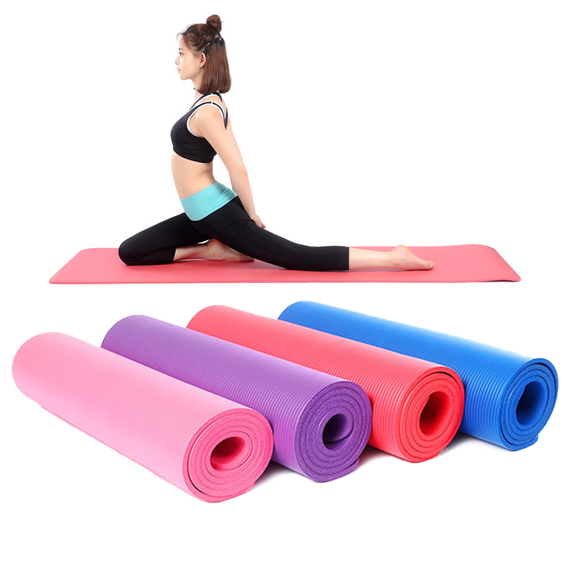 8mm Thick 1830*610mm Yoga Mat For High Quality NBR Non-Slip Yoga Mats For Beginner Fitness Exercise Tasteless Gym Pads Bag