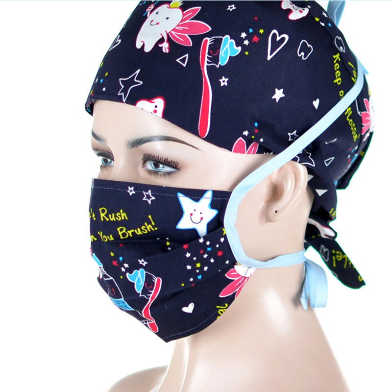 Tooth Print Mouth Masks Work Face Mask Anti Dust PM2.5 For Women Men 100% Cotton Adjustable Quality  Facial Masks Straps