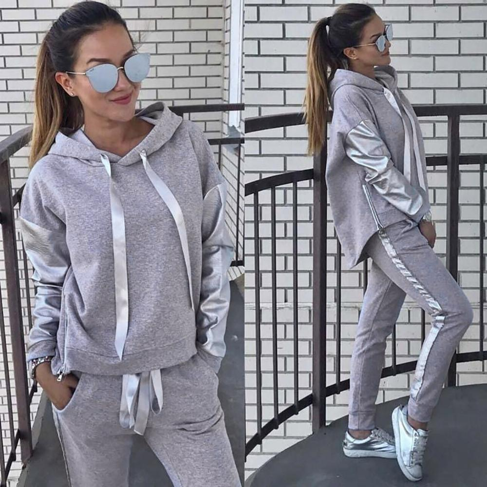 Casual Tracksuit Women Autumn Set 2019 New Two Piece Set Long Sleeve Hoodies Pullover Pants Set SportwearTracksuits Outfit