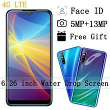 4G LTE Smartphones X60 4G RAM 64G ROM visage id téléphones mobiles Quad Core 6.26 ''Android débloqué goutte d'eau écran téléphone Celulares