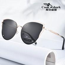 Cook Shark 2019 new sunglasses ladies sunglasses HD polarized driving hipster glasses retro