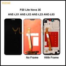 2280*1080 LCD z ramką do HUAWEI P20 Lite ekran Lcd do HUAWEI P20 Lite ANE-LX1 ANE-LX3 Nova 3e wyświetlacz