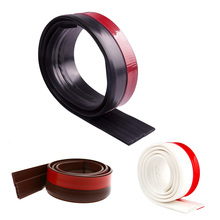 Self Adhesive Silicone Bottom Door Window Tape 1m Rubber Sealing Strip Weatherstriping Sound Insulation