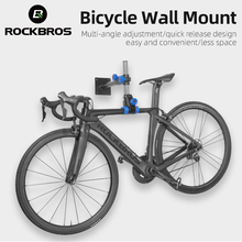 ROCKBROS Bike Repair Stand Bicycle Hanging Wall Mount MTB Road Bike Rack Indoor Fixed Multi-angle Quick Release Repair Station
