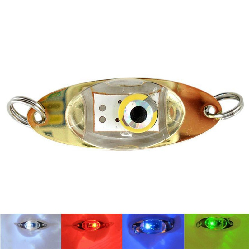 Outdoor Fishing Light Flash Lamp LED Deep Drop Underwater Squid Fish Lure Light Fish Lure Lamp Eye Shape Fishing