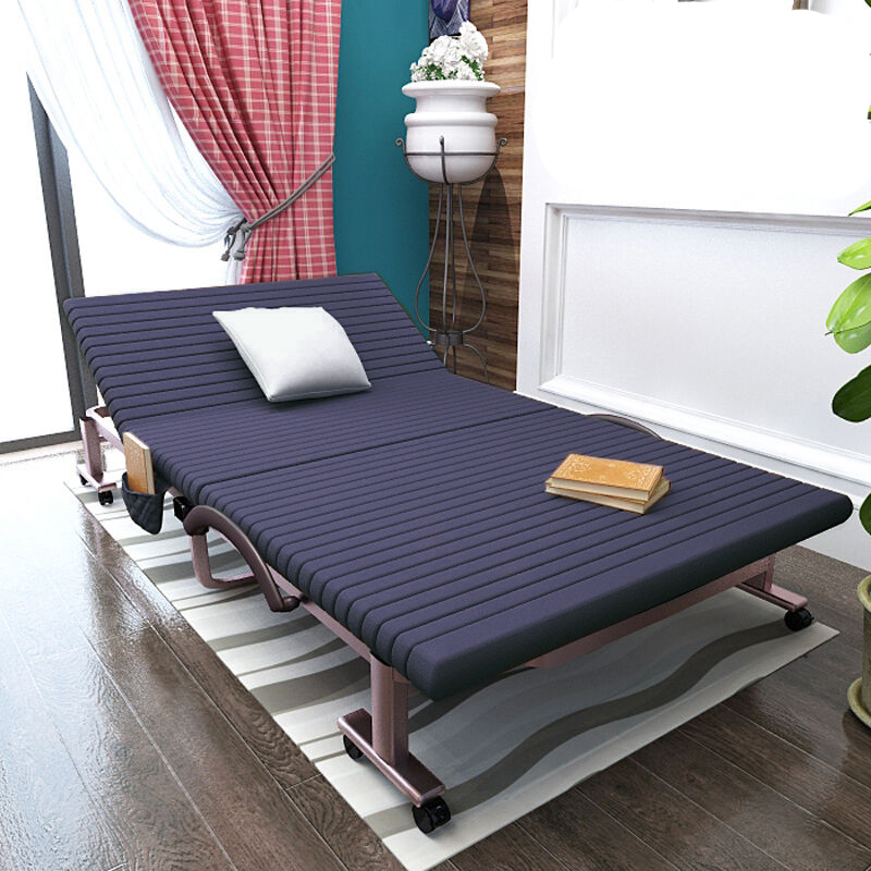 Folding Bed Single Bed Home Siesta Bed Simple Bed Double Siesta Bed Office Camp Bed Escort Bed Adult