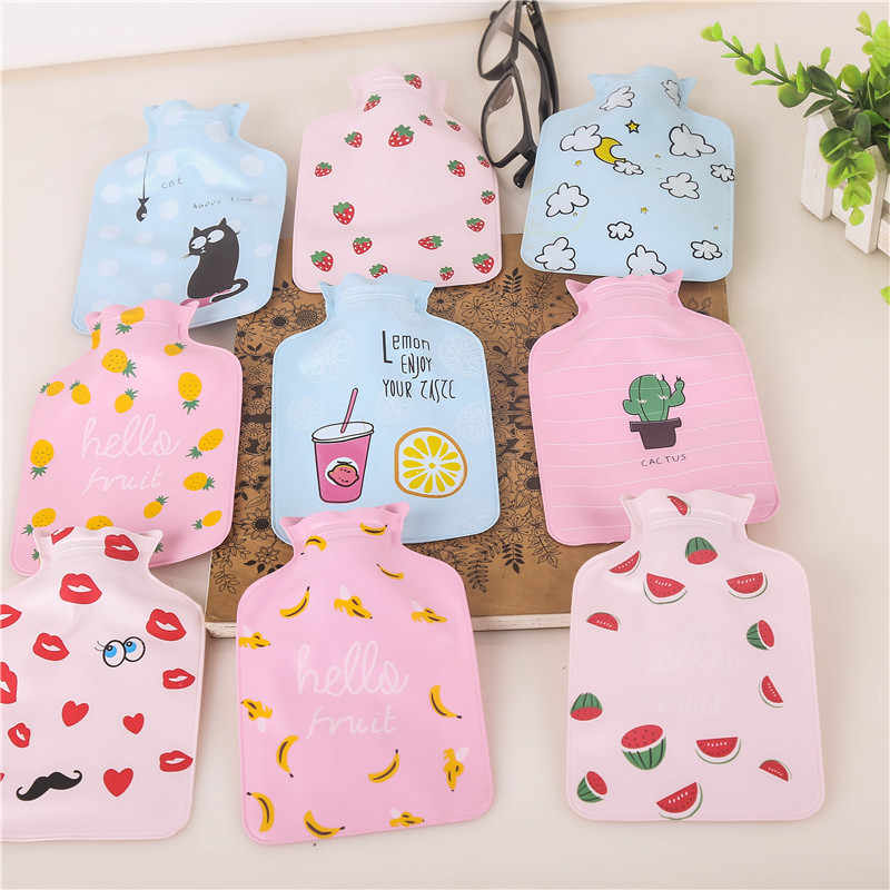 1PC Warm Water Bottle  Cartoon Cute Mini Hot Water Bottles Small Portable Hand Warmer Water Injection Bag