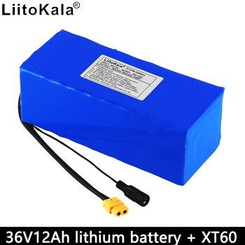 цена на LiitoKala 36V 12Ah lithium battery pack 18650 10S4P rechargeable battery 12000mAh large capacity BMS XT60 interface