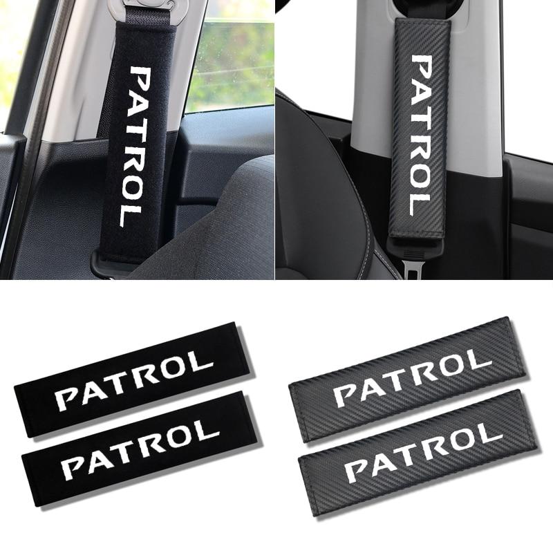 2 pièces voiture siège ceinture coussinets siège bandoulière coussin housse de coussin voiture ceinture protecteur sécurité ceinture couverture pour Nissan patrouille Y60 Y61 Y62