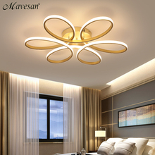 Luces de techo LED modernas con control remoto para sala de estar, dormitorio, 78W, 72W, 90W, 120W, lámpara tipo plafón de aluminio para interior