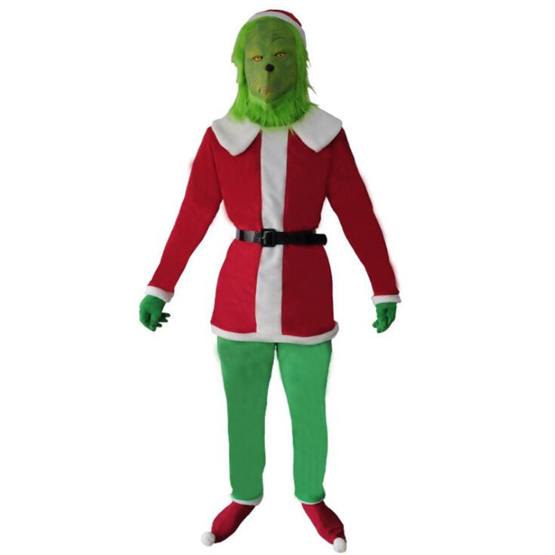 The Grinch Cosplay Jumpsuit Romper Kids Boys Costume Fancy Dress Halloween Party