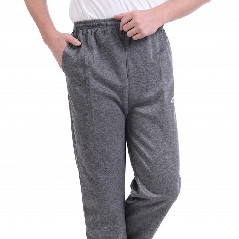 Spring And Autumn Middle-aged MEN'S Casual Pants Middle-aged Daddy Clothes Elastic Waist Pants Simple Casual Gymnastic Pants