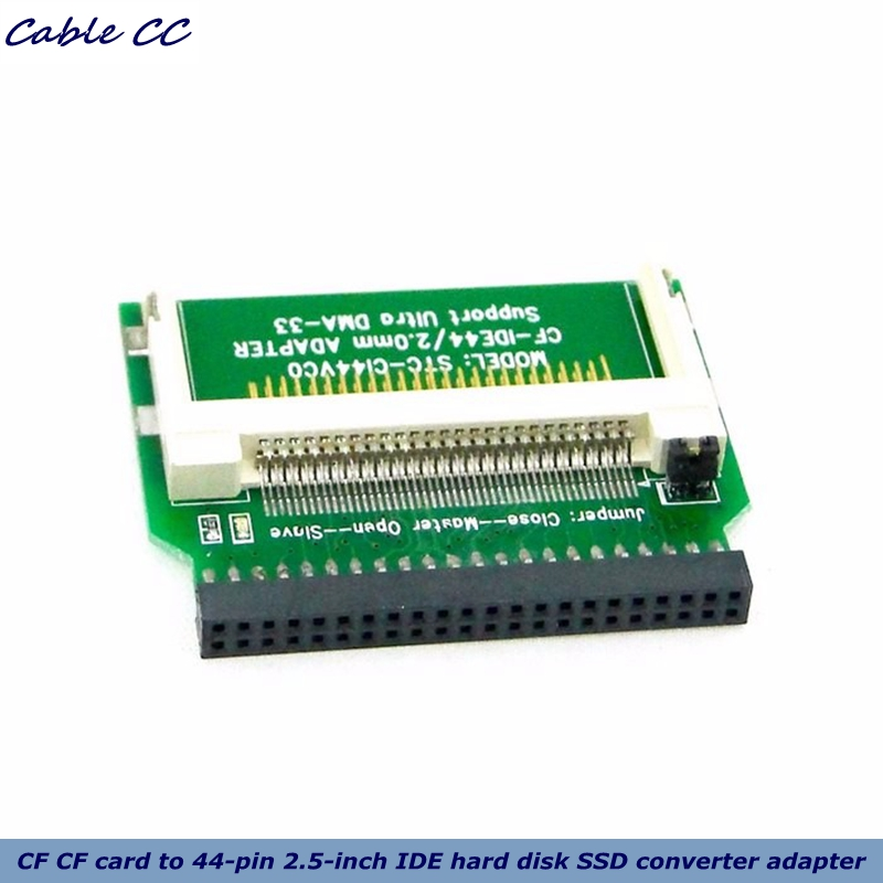 Cable Length: Other Cables Hot 2.5inch HDD Laptop CF to IDE 44Pin Male Adapter Card PCB Converter Connector