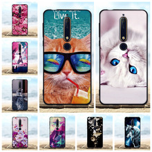 For Nokia 6 (2018) Case Soft Silicone Black Cover 6.1 3D Cute Cat Coque Fundas 2018 / Phone Cases