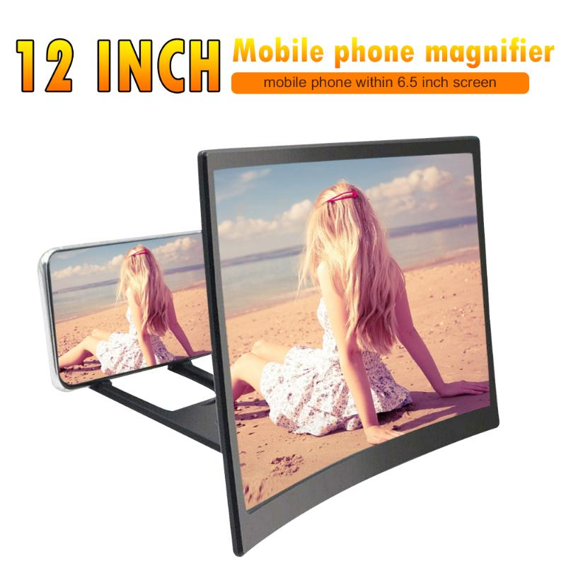 12 inch Curved Screen Mobile Phone Amplifier HD Screen Magnifier Expander Support Dropshipping