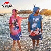 Naturehike Microfiber Swimming Towel Unisex Sunscreen Quick drying Moisture Beach Towel Ultralight Travel Cloak Surf Poncho