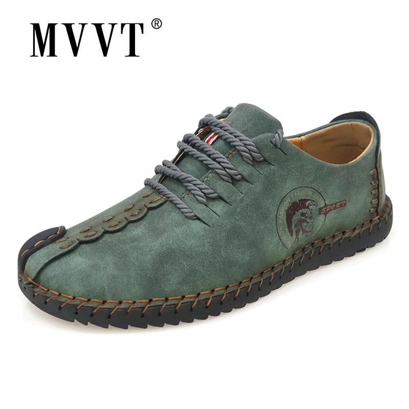 Classic Comfortable Men Casual Shoes Loafers Men Shoes Quality Split Leather Shoes Men Flats Hot Sale