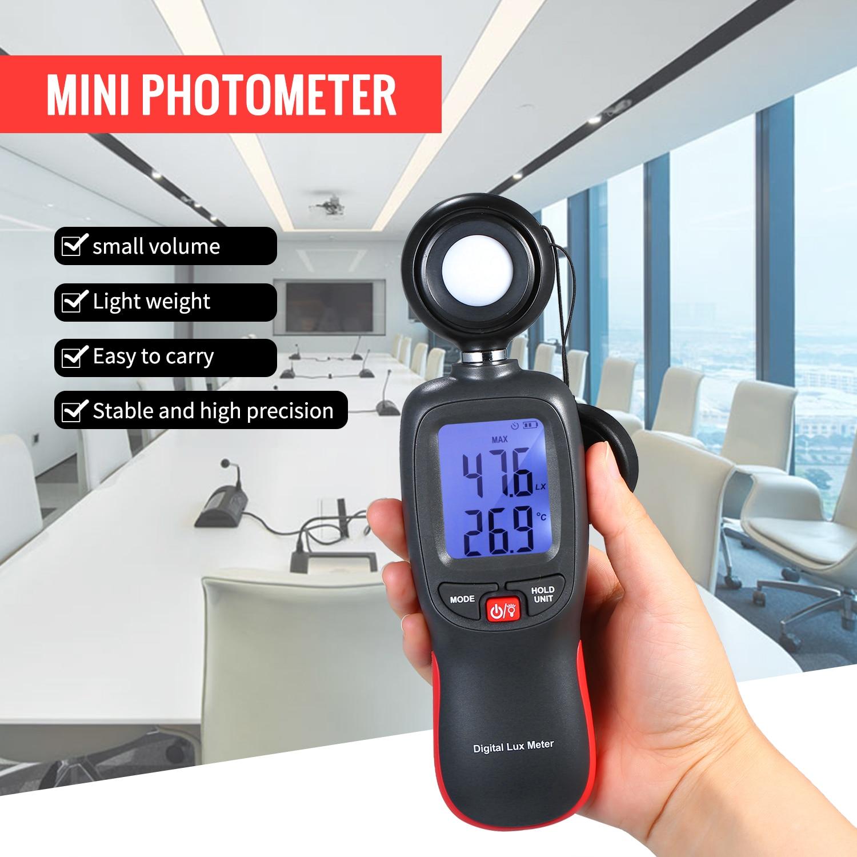 Цифровой люксметр Люкс/измеритель FC светильник люминометр фотометр ручной спектрометр осветитель 200000Lux