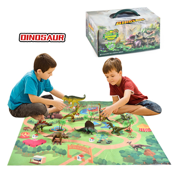 Children's Simulation Dinosaur Toy Set Non-woven Dinosaur World Game Pad Baby Crawling Mat Educational Toy