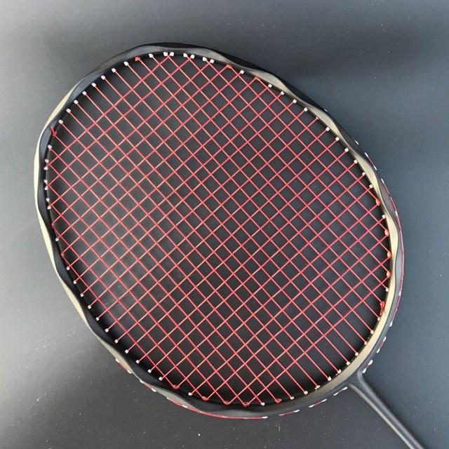 4U 100% Carbon Badminton Racket Professional 28-30lbs G5 Ultralight Offensive Badminton Racket Racquet Training Sports