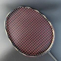 4u 100% raquete de badminton de carbono profissional 28-30lbs g5 ultraleve ofensiva raquete de badminton esportes treinamento