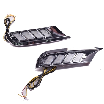 Car Waterproof Yellow Turn Signal Relay 12V LED DRL Daytime Running Lights Daylight Fog Lamp for Nissan Kicks 2017-2018