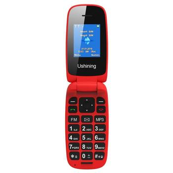 Feature Mobile Phone Senior Kids Mini Phone Russian Keypad 2G GSM Push Button Key Cellphone