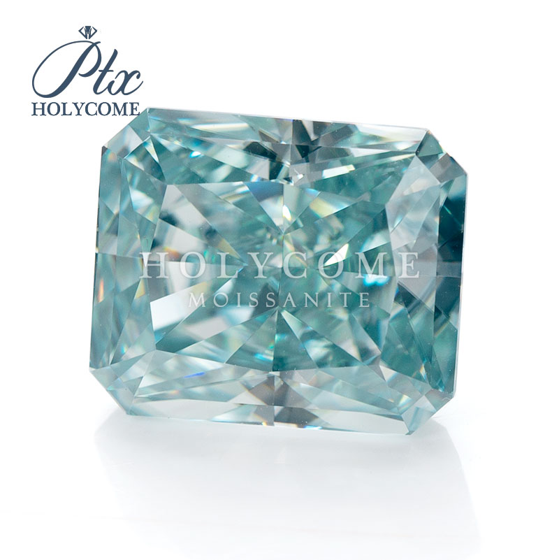 10x8mm 2020 hot radiant cut blue moissanite supplier gemstone VVS1 accept wholesale top quality for jewlery making free carving