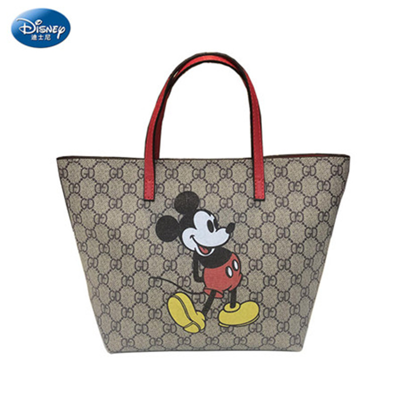 Disney Lady Shoulder Bag Mickey Mouse Women Messenger Shoulder Bag Girl Handbag Minnie Cartoon Shopping Bag