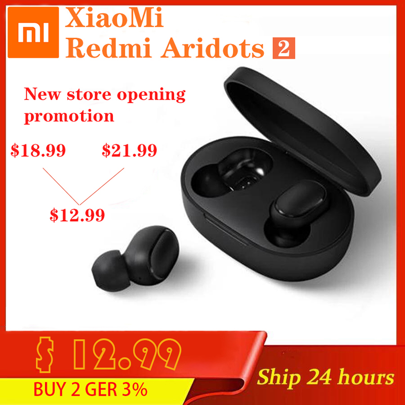 NEUE Xiaomi Redmi Airdots 2 Mi Wahre Drahtlose Bluetooth 5,0 TWS Kopfhörer Gaming Headset Links Rechts Niedrigen Lag Modus Stereo auto Link