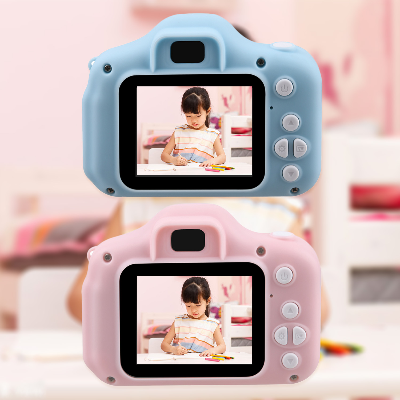 Crianças mini câmera brinquedo bonito filmadora câmera digital recarregável com 2 Polegada tela de exibição crianças brinquedo educativo ao ar livre jogar