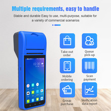 Handheld PDA POS Terminal 3G Wifi 5,5 Zoll HD IPS Display Android 8,1 POS mit 58mm Empfang Drucker kamera Scanner 1d 2d